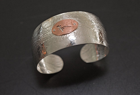 CUFF, TEXTURED STERLING SILVER