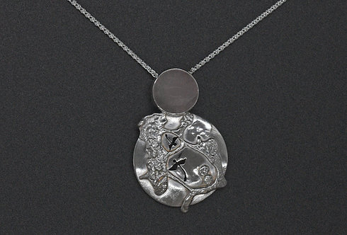 NECKLACE, STERLING SILVER, EMERGING DRAGONFLIES