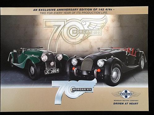 Morgan 4/4 70th Anniversary 4-page brochure