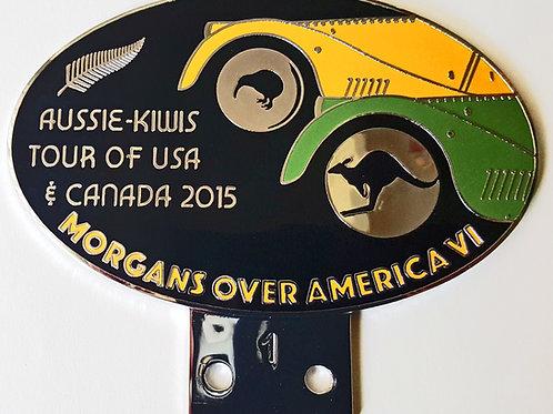 MORGANS OVER AMERICA 2015, AUSTRALIAN/KIWI BADGE