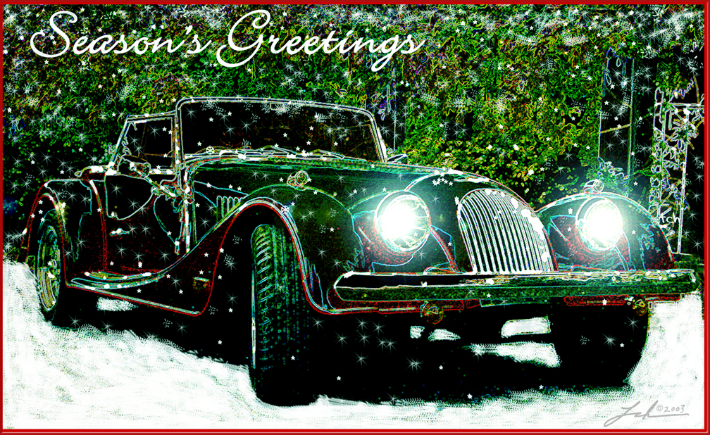 Morgan Car Holiday Card