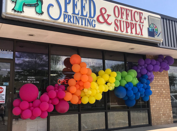 Speed Printing and Office Supply - Storefront POP