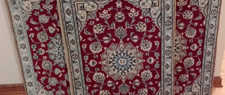 Authentic Custom Made Handwoven Silk/Wool Persian Rug Cushion