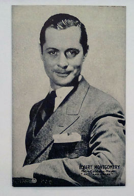 """Robert Montgomery ACTOR  Old Mutoscope Postcard promo for """"Fast and Loose"""""""