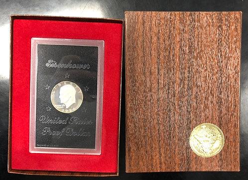 Eisenhower IKE 40% Silver Dollar Proof in Brown Package -Various Years
