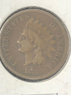 1873 Indian Head Cent, F, Closed 3