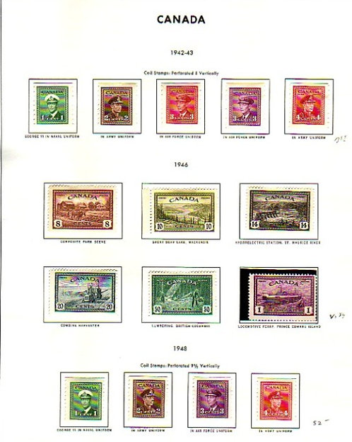 CANADA Starter Stamp Collection on Harris pages,  Lot 1351