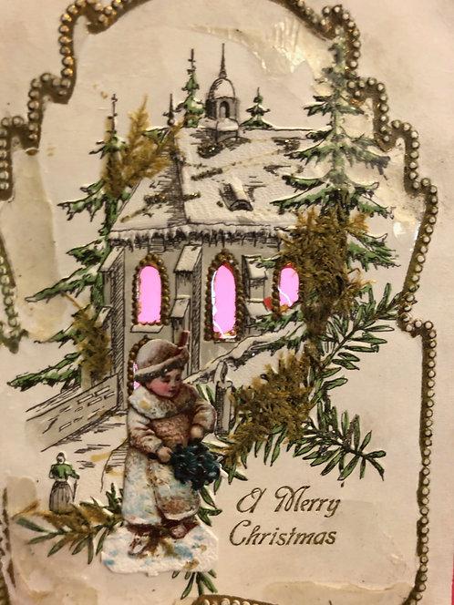 Hold to Light Christmas Postcard