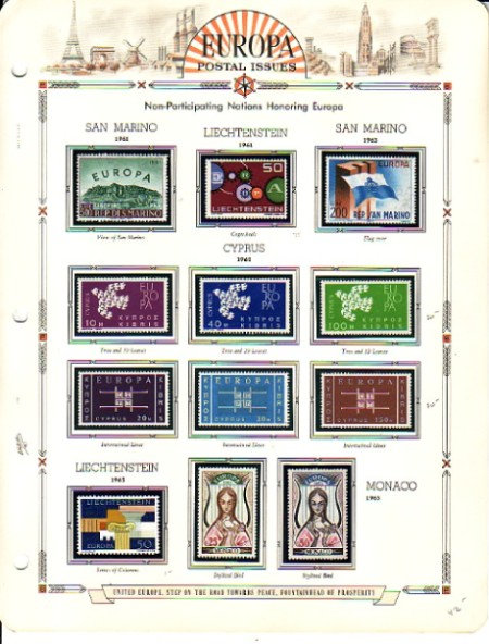 Europa Stamp Collection, 1956- 1979, includes Luxembourg Lot 1414
