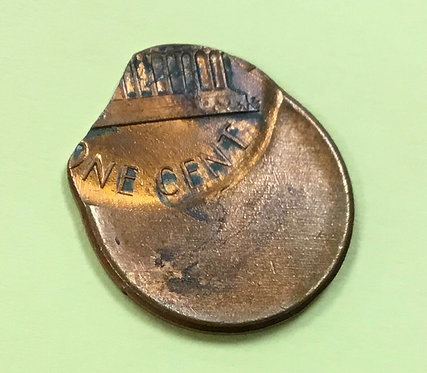 Lincoln Memorial zinc cent  ERROR 55%