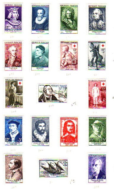 FRANCE Stamp Collection - 1849 to 1960 plus, Lot 1368