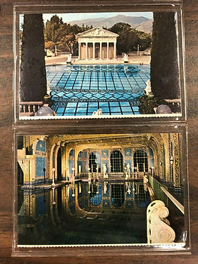18 Cards of HEARST CASTLE: San Simeon, Location of Hollywood Silent era Parties
