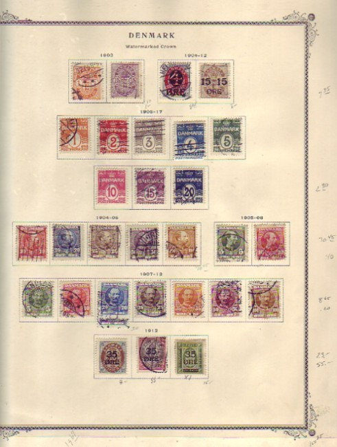 """DENMARK and Danish related """"Colonies"""" Stamp Collection, Lot 1457"""