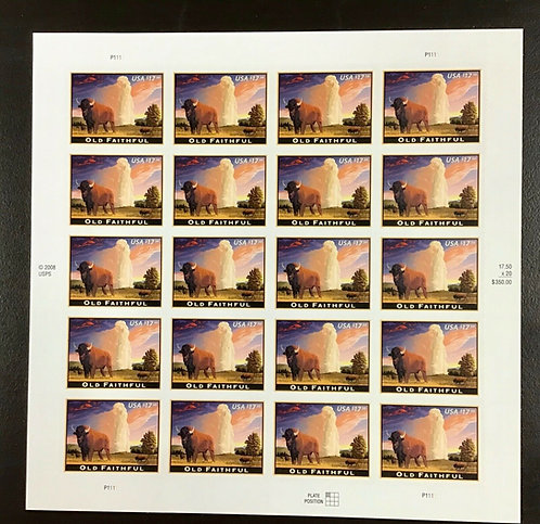 4379 Old Faithful MNH $17.50 Sheet of 20 FV $350.00 Issued 2009