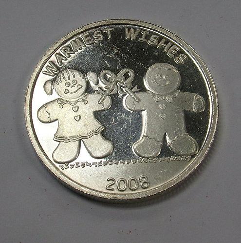 Gingerbread Kids 1 oz .999 Silver Art Rounds CHRISTMAS Stocking Stuffers