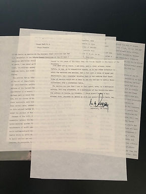 WWII General Ridgway typed Manuscript & Autograph - Cold War Andrey Vyshinsky