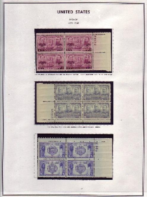 U.S. Stamp Plate Blocks, 1936-1968 Lot 1188