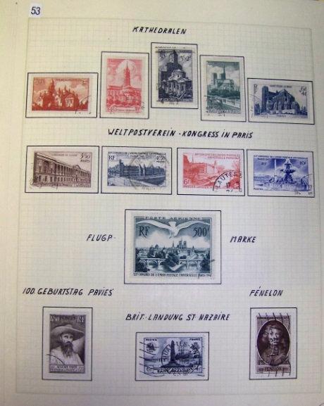 France Stamp Collection Lot 1543 - 3 volumeFrance Stamp Collection Lot 1543 - 3 volume