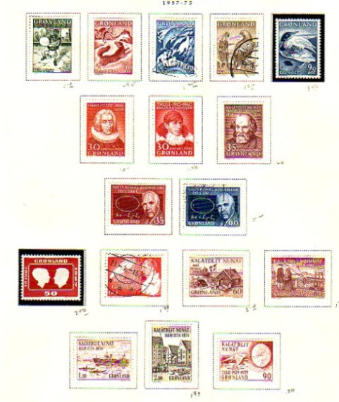 Greenland Stamp Collection Lot 1397 on Scott Pages