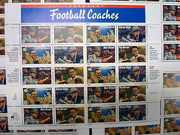 #3143-3150 Set of 9 MINT SHEETS 1997  FOOTBALL Coaches 180 NH stamps