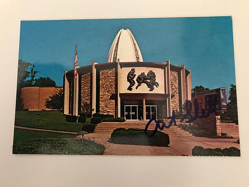 Football Hall of Fame postcard autographed by LINEMAN Art Shell Coach of RAIDERS