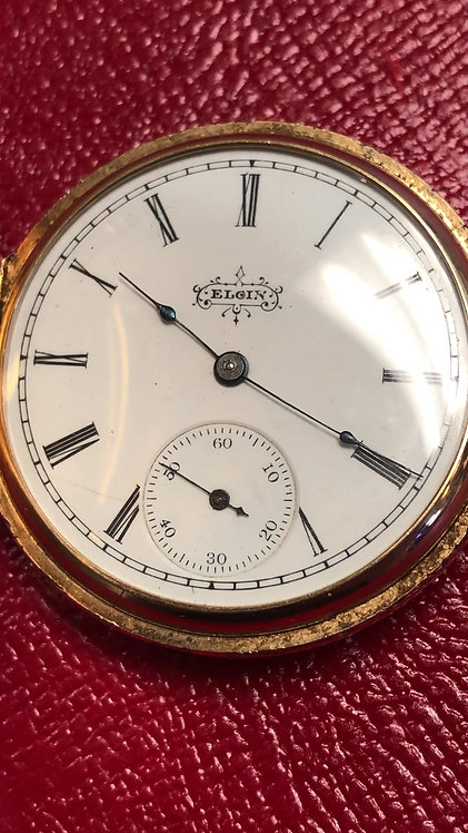 Antique 1859 Pocket Watch - Engraved 14k Assay Working