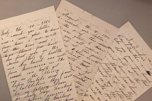 3 Civil War letters 1862, 85th Pennsylvania Infantry VA & NC battle lines cannon