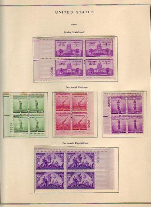 United States Commemorative Stamp Plate Blocks Lot 1306