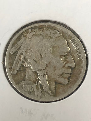 1916 D Buffalo Nickel VF