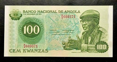 1976 ANGOLA 100 KWANZAS  P 111  UNC