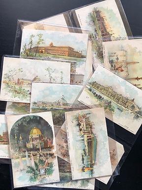 Lot of 14 Charles Graham Portfolio of World's Columbian Exposition Illustrations