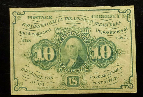 1st Issue Fr.1242 10c United States Fractional Currency Note