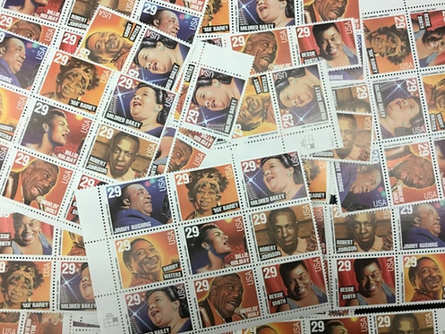 2854-2861  Blues &  Jazz Artist  Mint 29 Cents Stamp, 373 stamps,  Issued 1994