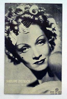 Marlene Dietrich Universal Promo B&W Postcard Old Mutoscope