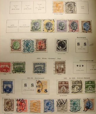 Denmark Stamp Collection, 1851-1935 Lot 1232