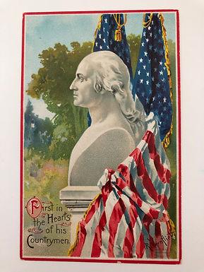 Antique 1900's George Washington Embossed Postcard