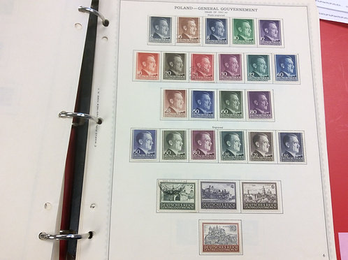 Poland Stamp Collection Lot 1533, including German Occupation
