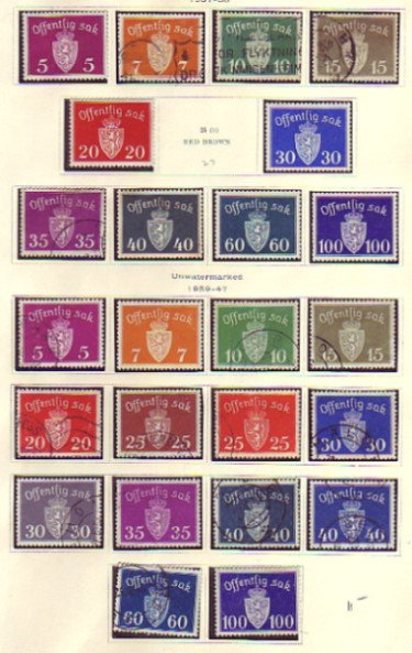 Norway Stamp Collection in black Showgard type mounts on Scott pages- Lot 1382