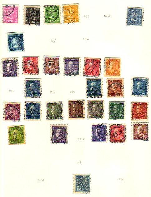 Sweden Beginner Stamp Collection, Lot 1118