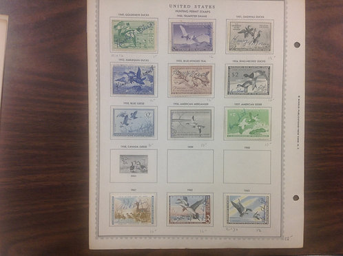 U.S. Revenue  Duck and Stamps, Lot 1577