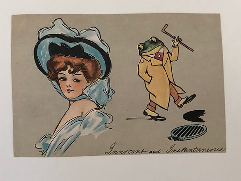 1898 Private Mailing Card (postcard) with Gibson Girl and Frog