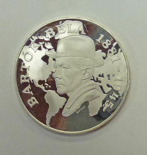 1981 HUNGARY 500 Forint BELA BARTOK Commemorative Proof Coin .640 Silver
