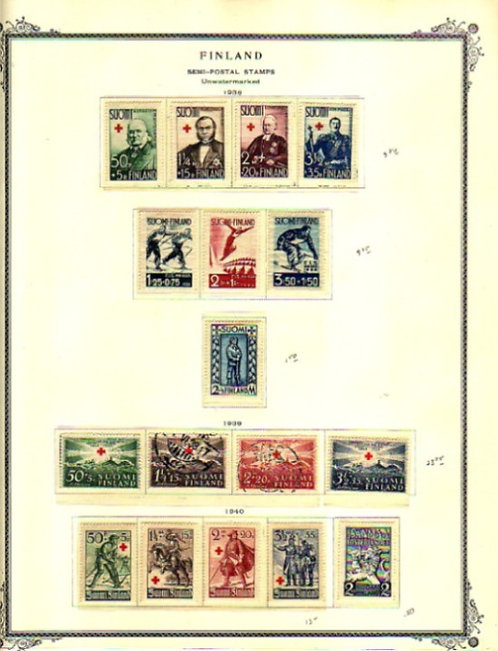 Finland Stamp Collection pages to 1976, Lot 1446