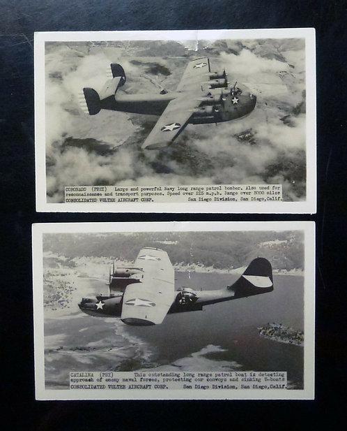 Vultee Aircraft fighter planes San Diego CA Catalina & Coronado RPPC