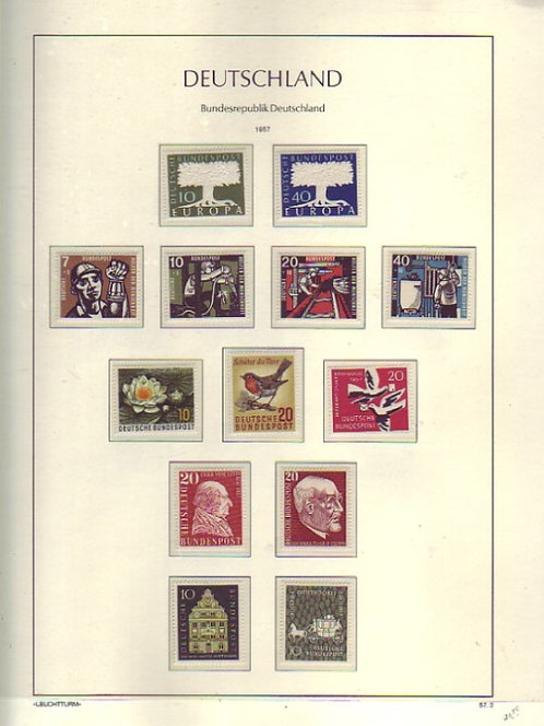 Germany - Federal Government Stamp Collection, 1949-1974, Lot 1475