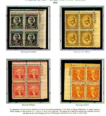 U.S. Stamp Collection- Plate blocks #704-715 Lot 1052