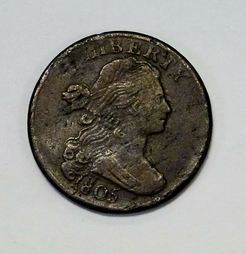 1805 LARGE Cent Draped Bust VF Details