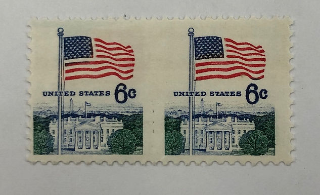 1338De, NH XF Horizontal Sheet Pair Stamps, Imperf Between