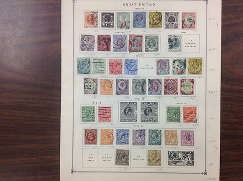 Great Britain Stamp Collection, mostly 1850's to 1930's, Lot 1568