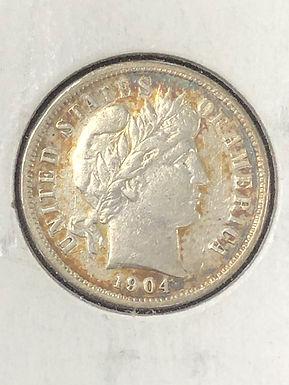1904 P Barber Silver Dime  XF